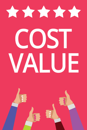 Word writing text Cost Value. Stock Photo