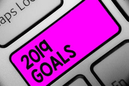 Word writing text 2019 Goals. Banco de Imagens