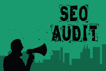 Word writing text Seo Audit.