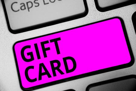 Gift Card text on Keyboard Reklamní fotografie