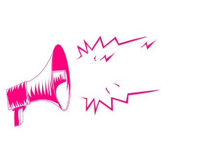 Flaches Designgeschäftsvektorillustrationskonzept. Geschäftsanzeige für Website- und Werbebanner. leerer Social Media Copy Space Text für Ihre eigenen Texte. Vorlage Kunst esp isoliert Vektorgrafik