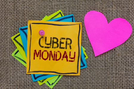 Conceptual hand writing showing Cyber Monday.
