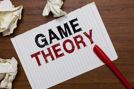 Conceptual text writing showing Game Theory.