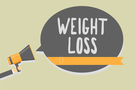 Conceptual text writing showing Weight Loss.