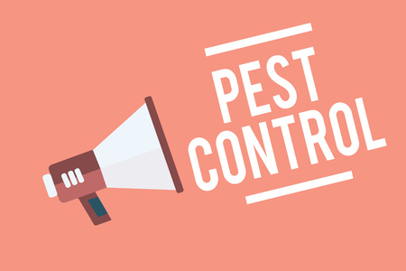 Text sign showing Pest Control.