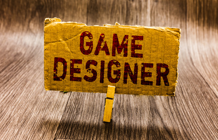 Conceptual hand writing showing Game Designer. Business photo text Campaigner Pixel Scripting Programmers Consoles 3D Graphics Paper notes reminders question mark asking important answer