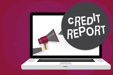 Writing note showing Credit Report.