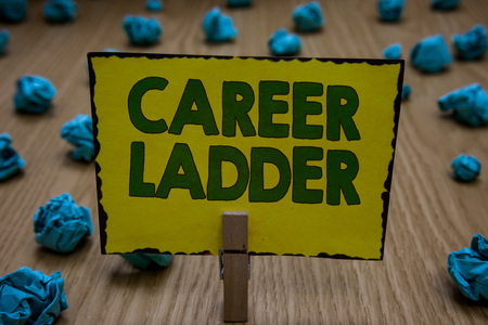 Text sign showing Career Ladder. Stok Fotoğraf