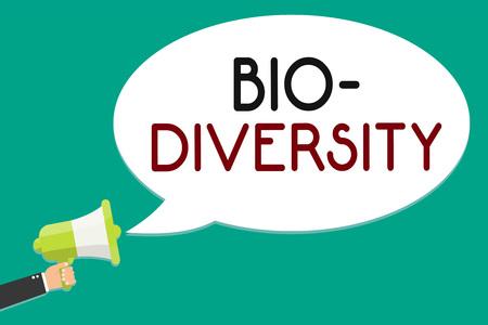 Handwriting text writing Bio Diversity.