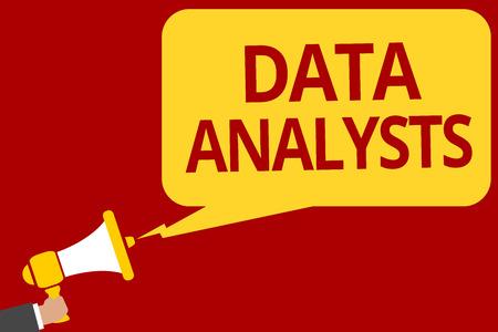 Handwriting text writing Data Analysts. Stock Photo