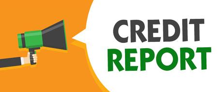 Handwriting text Credit Report.