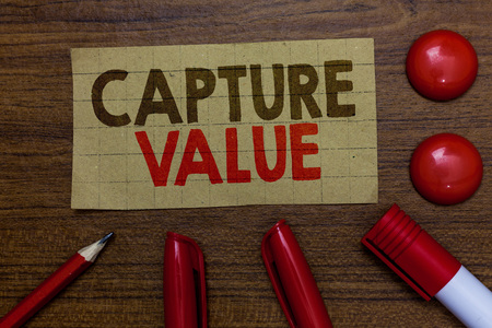 Handwriting text writing Capture Value.