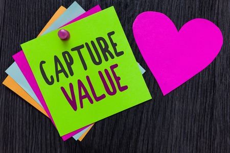 Text sign showing Capture Value.