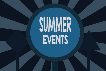Text sign showing Summer Events. Conceptual photo Celebration Events that takes place during summertime. Stok Fotoğraf