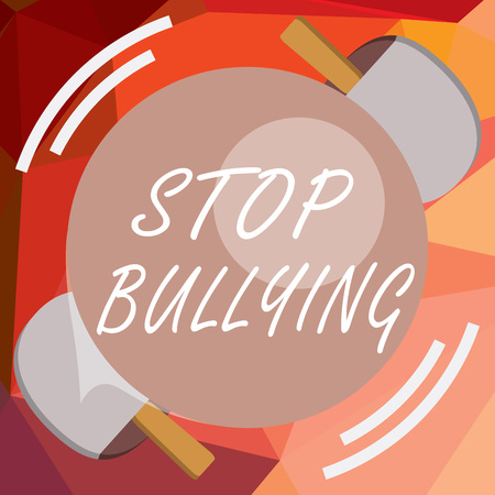 Writing note showing Stop Bullying. Business photo showcasing Fight and Eliminate this Aggressive Unacceptable Behavior.