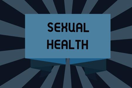Signo de texto que muestra la salud sexual. Foto conceptual Cuerpo más sano Satisfacer la vida Sexual Relaciones positivas.