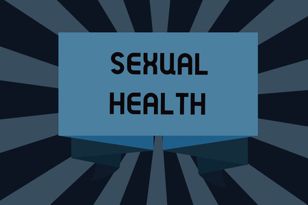 Text sign showing Sexual Health. Conceptual photo Healthier body Satisfying Sexual life Positive relationships. Foto de archivo - 107557058