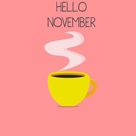 Conceptual hand writing showing Hello November. Business photo text Welcome the eleventh month of the year Month before December. Stock Photo