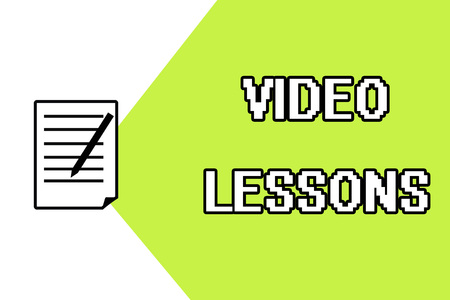 Handwriting text writing Video Lessons. Concept meaning Online Education material for a topic Viewing and learning.