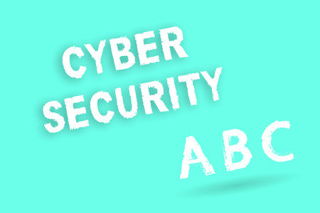 Text sign showing Cyber Security. Conceptual photo Protect a computer system against unauthorized access. Stock Photo