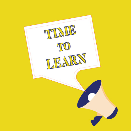 Text sign showing Time To Learn. Conceptual photo Obtain new knowledge or skill Educational or career growth.