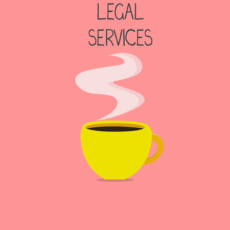 Conceptual hand writing showing Legal Services. Business photo text Providing access to justice Fair trial Law equality.
