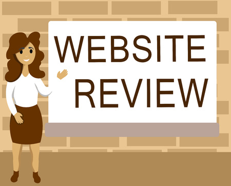 Word writing text Website Review. Business concept for Reviews that can be posted about businesses and services. 写真素材