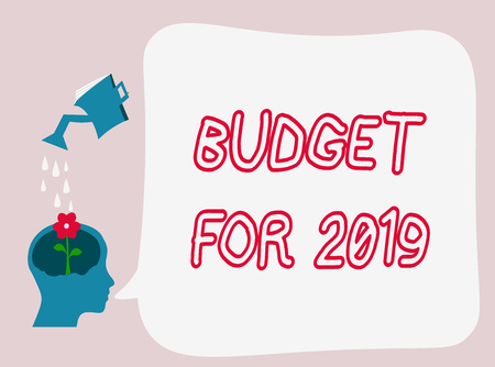 Text sign showing Budget For 2019. Conceptual photo An written estimates of income and expenditure for 2019. Archivio Fotografico