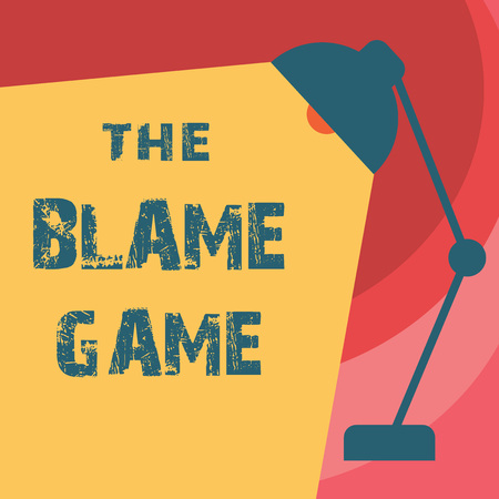 Handwriting text writing The Blame Game. Concept meaning A situation when people attempt to blame one another. Stock fotó