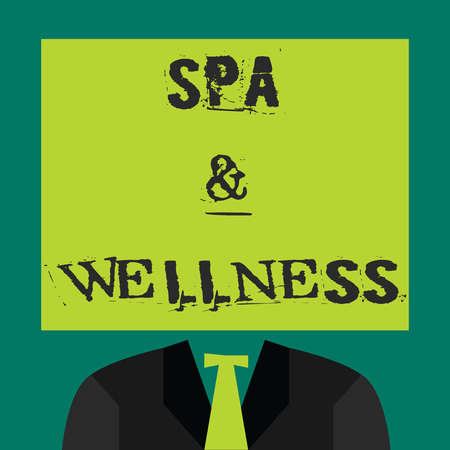 Text sign showing Spa and Wellness. Conceptual photo Place where people go to improve their health Relaxation.