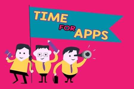 Word writing text Time For Apps. Business concept for The best fullfeatured service that helps communicate faster.