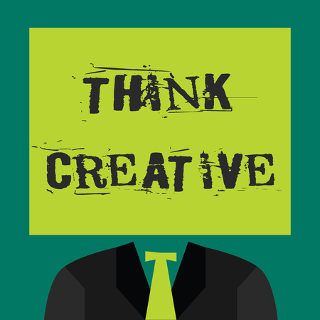 Text sign showing Think Creative. Conceptual photo The ability to perceive patterns that are not obvious.