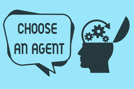 Word writing text Choose An Agent. Business concept for Choose someone who chooses decisions on behalf of you. Фото со стока