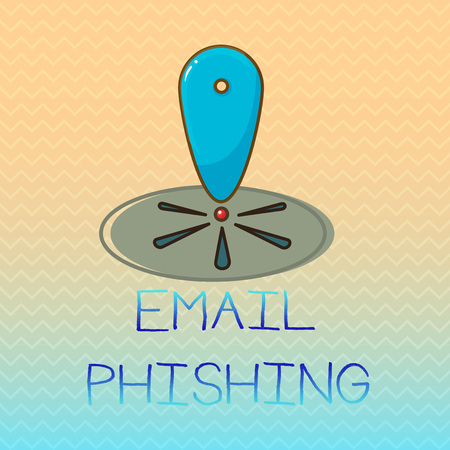 Conceptual hand writing showing Email Phishing. Business photo showcasing Emails that may link to websites that distribute malware. Stock Photo