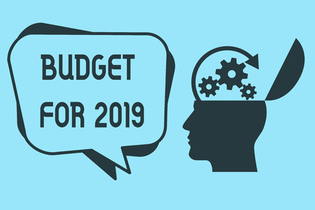 Word writing text Budget For 2019. Business concept for An written estimates of income and expenditure for 2019.