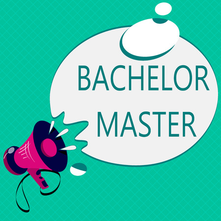 Conceptual hand writing showing Bachelor Master. Business photo text An advanced degree completed after bachelor's degree.