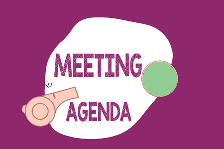 Handwriting text writing Meeting Agenda. Concept meaning An agenda sets clear expectations for what needs to a meeting.
