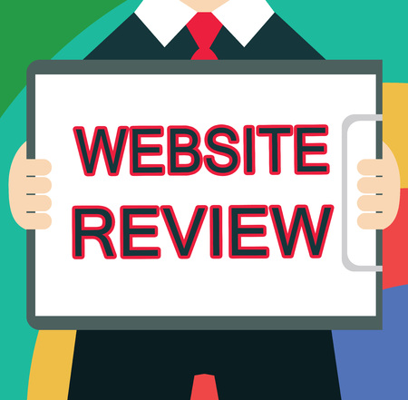 Text sign showing Website Review. Conceptual photo Reviews that can be posted about businesses and services.