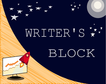 Text sign showing Writer s is Block. Conceptual photo Condition of being unable to think of what to write. Stock Photo