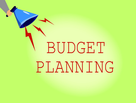 Conceptual hand writing showing Budget Planning. Business photo showcasing The written description about current and future expenses.