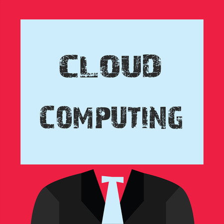 Word writing text Cloud Computing. Business concept for use a network of remote servers hosted on the Internet.