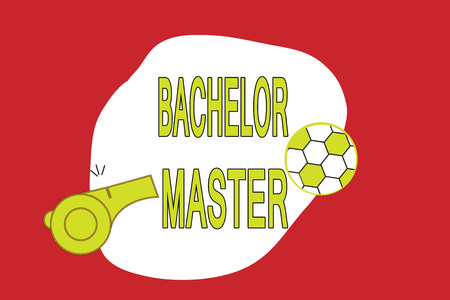 Text sign showing Bachelor Master. Conceptual photo An advanced degree completed after bachelor's degree.
