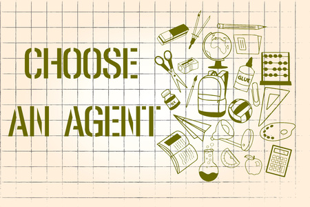 Word writing text Choose An Agent. Business concept for Choose someone who chooses decisions on behalf of you. Stock fotó