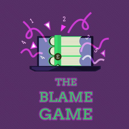 Conceptual hand writing showing The Blame Game. Business photo text A situation when people attempt to blame one another.