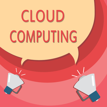 Handwriting text writing Cloud Computing. Concept meaning use a network of remote servers hosted on the Internet.