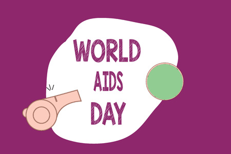 Handwriting text writing World Aids Day. Concept meaning 1st December dedicated to raising awareness of the AIDS.