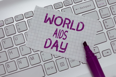 Conceptual hand writing showing World Aids Day. Business photo text 1st December dedicated to raising awareness of the AIDS. Archivio Fotografico