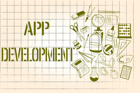 Word writing text App Development. Business concept for Development services for awesome mobile and web experiences.