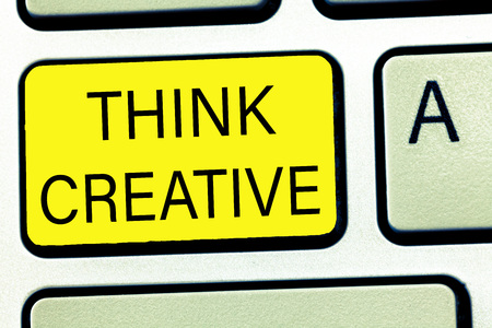 Conceptual hand writing showing Think Creative. Business photo text The ability to perceive patterns that are not obvious.