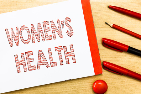 Handwriting text writing Women s is Health. Concept meaning Womens physical health consequence avoiding illness. Stock Photo